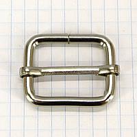 Регулятор пряжка перетяжка 25 мм никель для сумок a5995 (40 шт.), фото 1