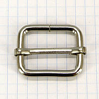 Регулятор пряжка перетяжка 25 мм никель для сумок a5995 (40 шт.)
