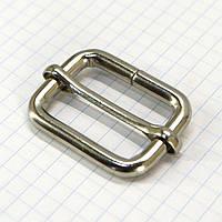 Регулятор пряжка перетяжка 30 мм никель для сумок a6007 (50 шт.)