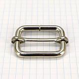 Регулятор пряжка перетяжка 30 мм никель для сумок a6007 (20 шт.), фото 2