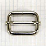 Регулятор пряжка перетяжка 30 мм никель для сумок a6007 (20 шт.), фото 3