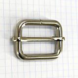 Регулятор пряжка перетяжка 30 мм никель для сумок a6007 (20 шт.), фото 4