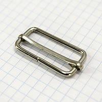 Регулятор пряжка перетяжка 30 мм никель для сумок a6011 (100 шт.)