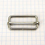 Регулятор пряжка перетяжка 30 мм никель для сумок a6011 (50 шт.), фото 2