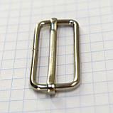 Регулятор пряжка перетяжка 30 мм никель для сумок a6011 (50 шт.), фото 4