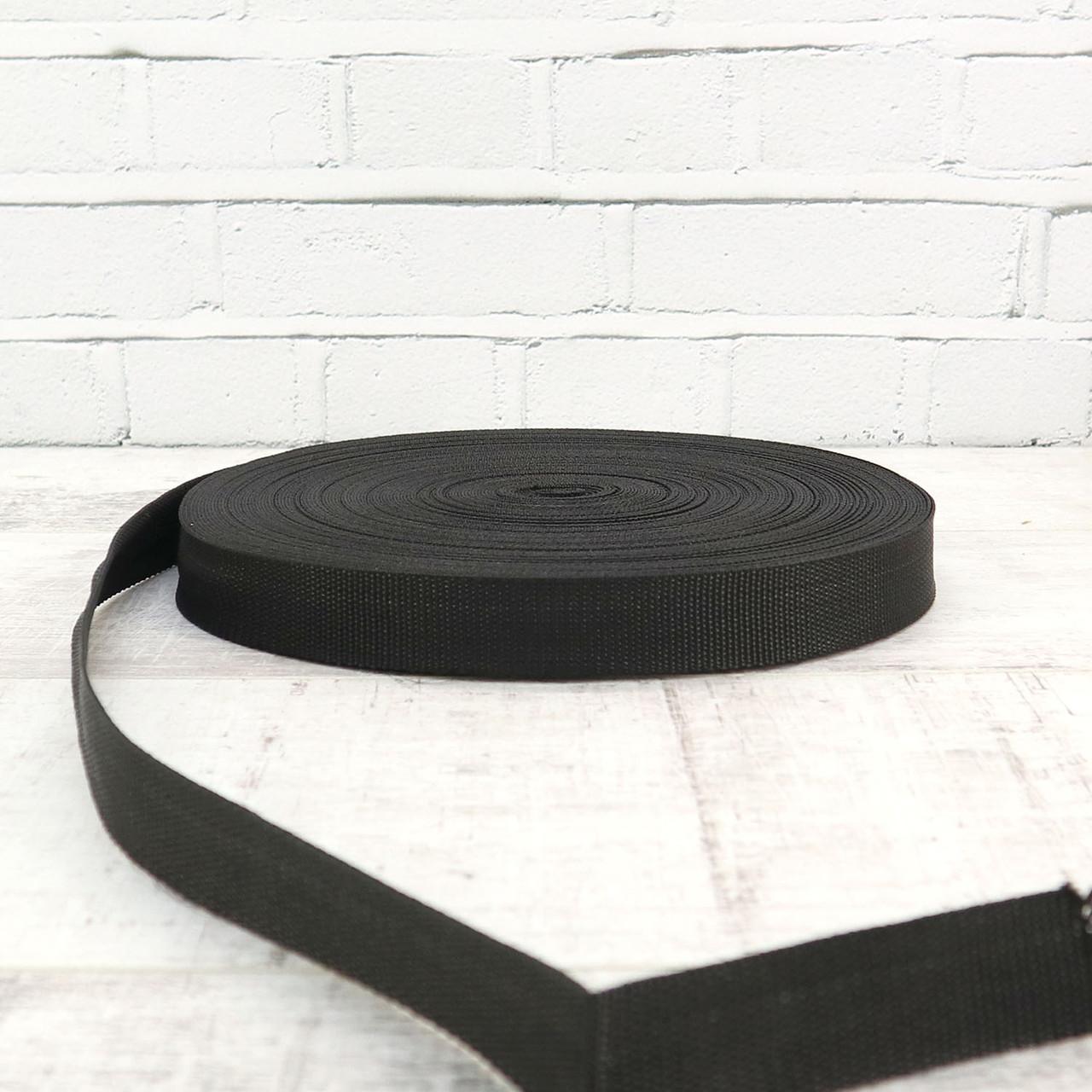 Ременная лента 30 мм полипропилен черная для сумок a4054 (15 м.)