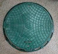 Люк канализационный садовый зеленый без замка