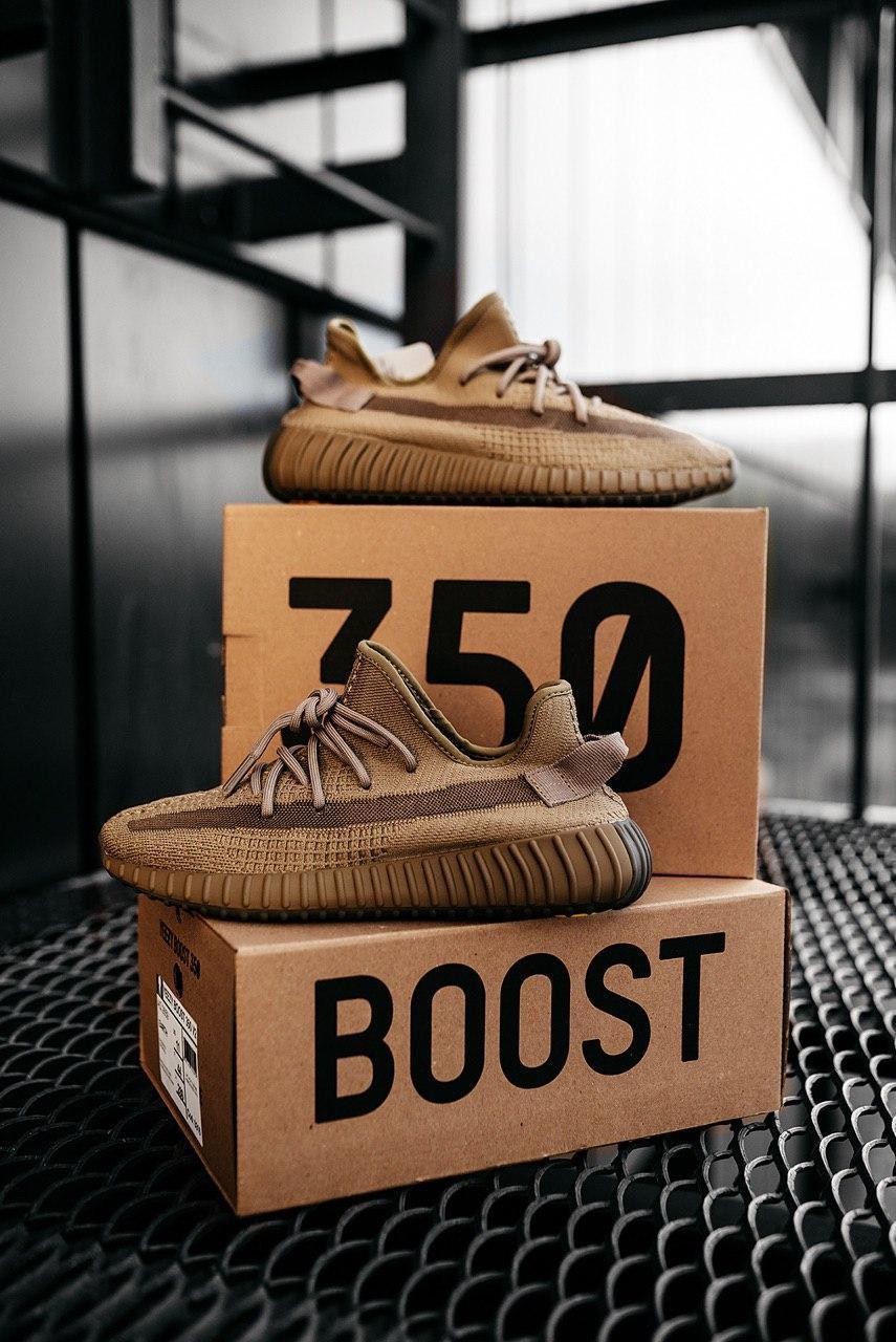 Женские кроссовки Adidas Yeezy Boost 350 v2 Earth / Адидас Изи Буст 350 в2