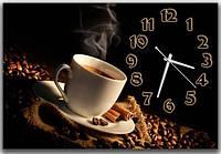 Оригинальные черные настенные часы для дома Горячий кофе, 30х45 см
