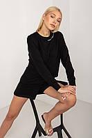 Спортивный летний костюм женский черный цвет