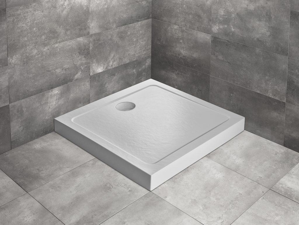 Душевой поддон квадратный Radaway Doros C Compact Stone White белый