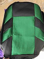 Авточехлы универсальные автомобильные чехлы для сидений (полный комплект) черно-зеленые