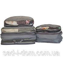 Дорожный органайзер (сумочки в чемодан) 5 шт ORGANIZE C002-grey серый