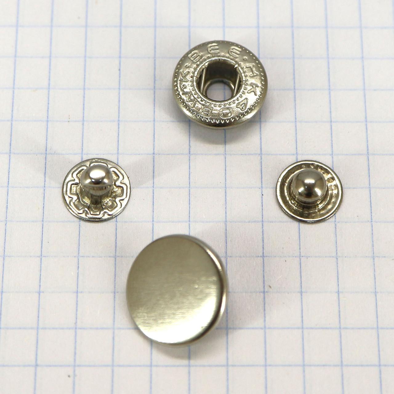 Кнопка альфа 15 мм никель a4218 (360 шт.)