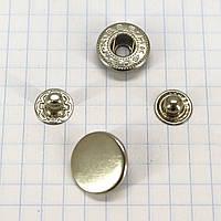 Кнопка альфа 15 мм никель Китай a4218 (360 шт.)