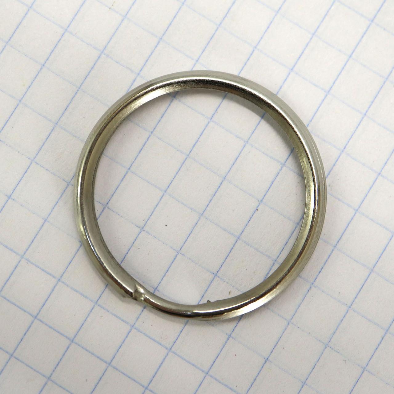 Кольцо ключное 24 мм никель для сумок t4346 (50 шт.)