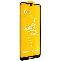Стекло 6D Honor 8 A черное - защитное, premium
