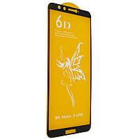Стекло 6D Honor 9 Lite черное - защитное, premium