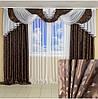 Комплект красивих штори з ламбрекеном інтернет магазин, фото 3