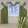 Комплект красивих штори з ламбрекеном інтернет магазин, фото 7