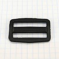 Регулятор пряжка перетяжка 32 мм пластиковая черная для сумок a3616 (100 шт.)