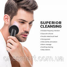 Myris Personal Skin Care Silicone Face Cleaner Brush Waterproof Facial Cleaner for Man