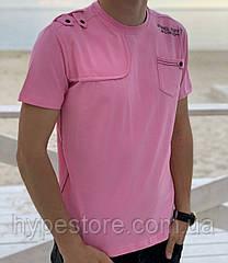 Стильная трикотажная мужская футболка,Турция, см.замеры в ПОЛНОМ ОПИСАНИИ товара