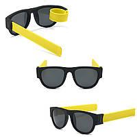 Солнцезащитные складные очки с гибкими дужками, спортивные, браслет на руку, унисекс, желтые