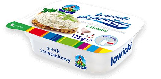 Сир вершковий LOWICZ Serek smitankowy із зеленню 125 г