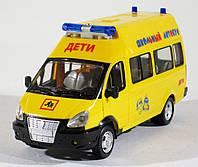 Машина ГАЗель школьный автобус, пластик, звук, свет, открываются все двери, поворачиваются колёса