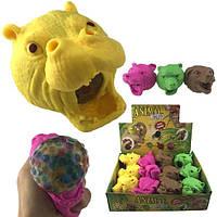 Антистресс игрушка для рук Голова зверей 12 шт