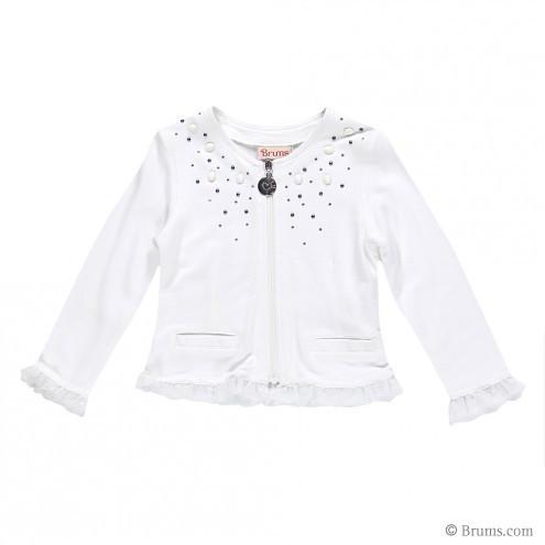 Детская кофта для девочки Нарядная одежда для девочек Одежда для девочек 0-2 BRUMS Италия 151BEFC006 Белый