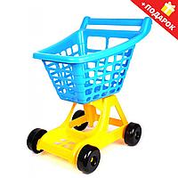 Детская Тележка для супермаркета ТехноК Красная (4227