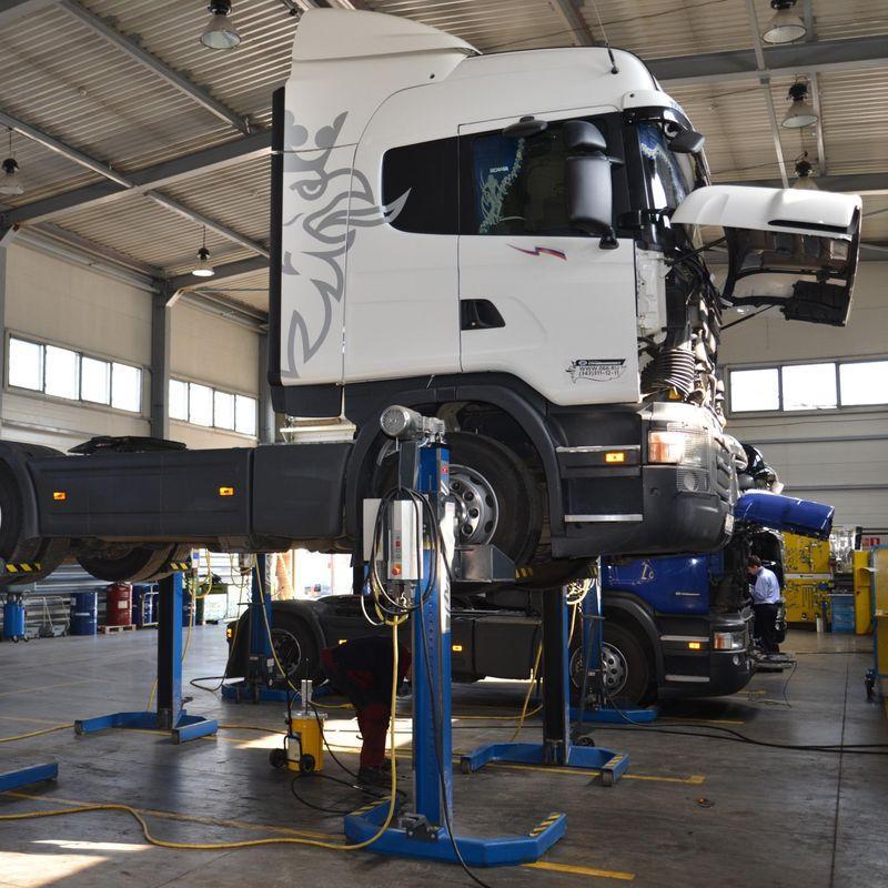 Промывка радиаторов печек грузовых автомобилей