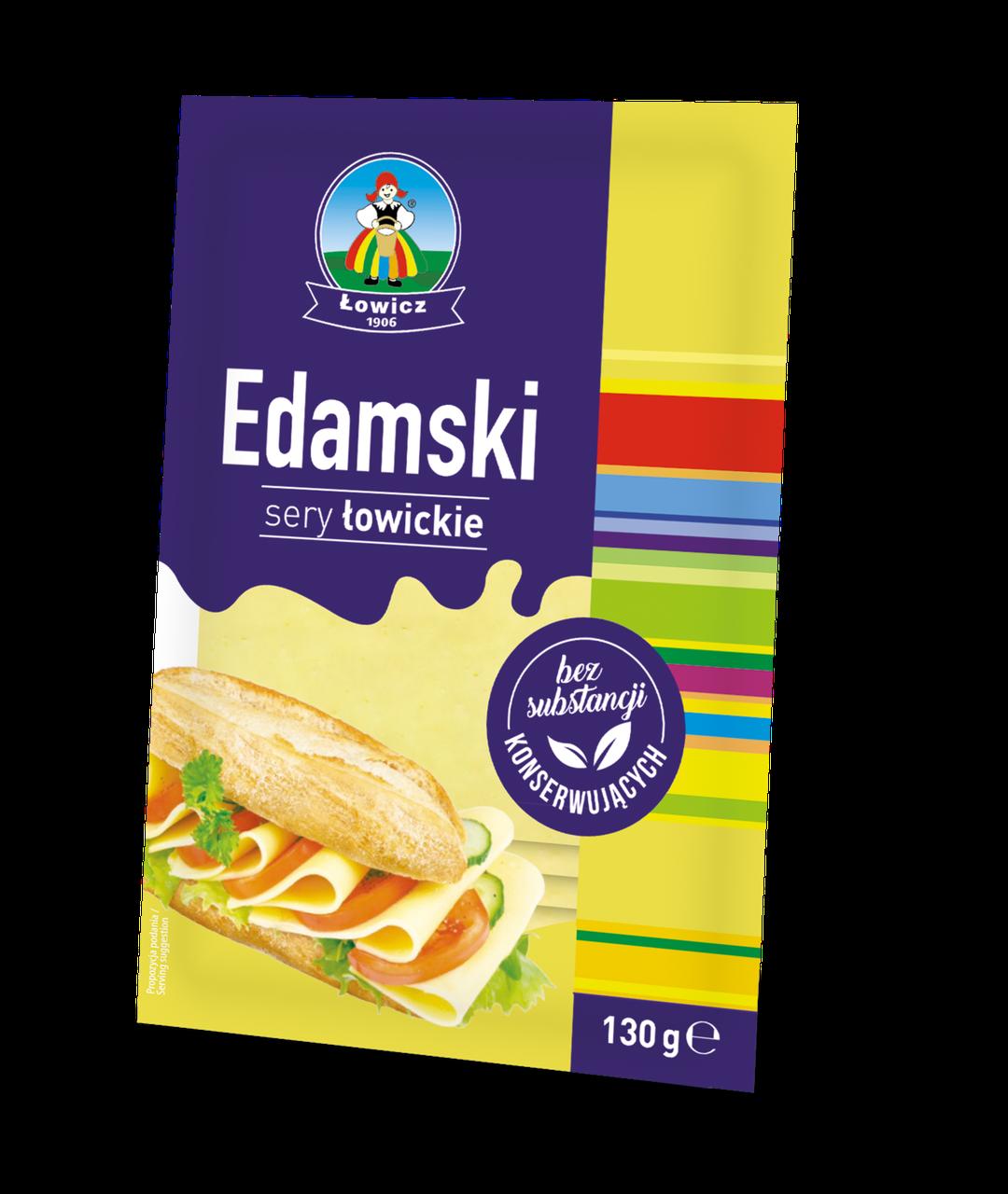 Сир нарізаний LOWICZ Ser w plastrach Edamski 130 г