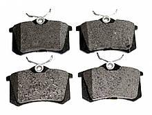 Колодки тормозные задние дисковые SKODA OCTAVIA, FABIA, A4, A6, PASSAT