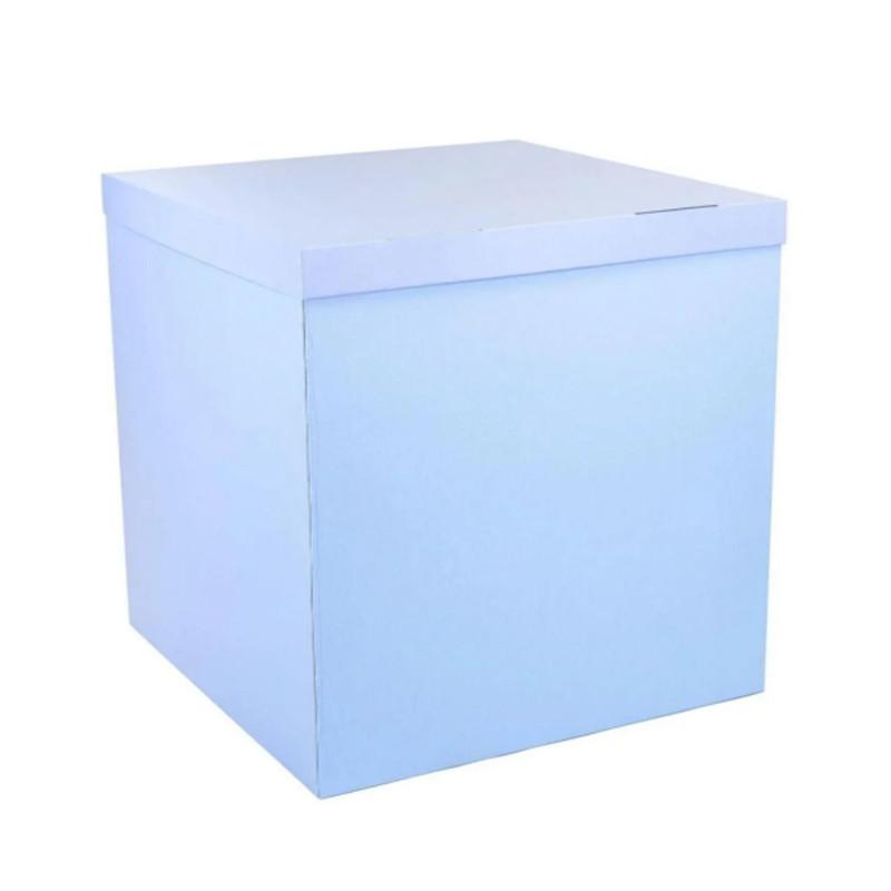 Подарункова коробка сюрприз блакитна 70*70*70см преміум