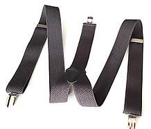 Підтяжки для штанів ширина 3,5 см сірі
