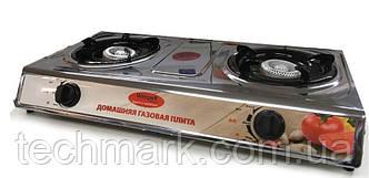 Настольная газовая плита таганок Wimpex WX 1102 на 2 конфорки