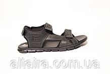 Мужские черные сандалии из натуральной кожи в спортивном стиле. ANDANTE. Размеры 40-45.