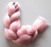 Канекалон однотонний 60см, рожевий