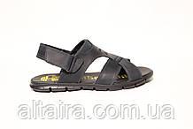 Мужские синие сандалии из натуральной кожи.  ANDANTE. Размеры 40-45.