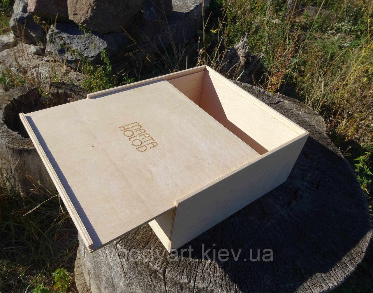 Деревянная коробка, деревянный ящик 27*27*12 см