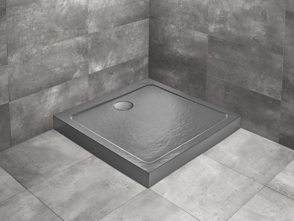 Душевой поддон квадратный Radaway Doros C Compact Stone Anthracite тёмно-серый