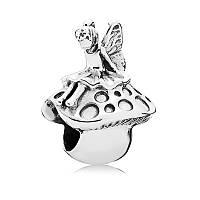Шарм лесная фея из серебра 925 пробы пандора (pandora)