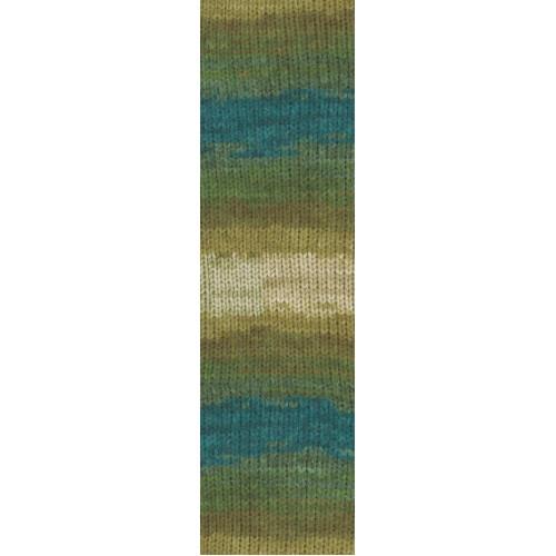 Пряжа для вязания Бургум батик 4684