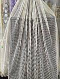 Тюль на фатиновой основе с машиной вышивкой на высоту 2.56 м. дальше пустое поле, фото 2