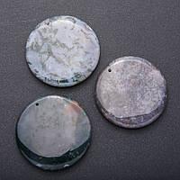 Кулон из натурального камня Агат Моховый монета 55мм(+-)