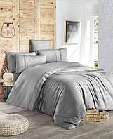 Комплект постельного белья First Choice Ranforce Deluxe Gala Grey хлопок 220-200 см серый