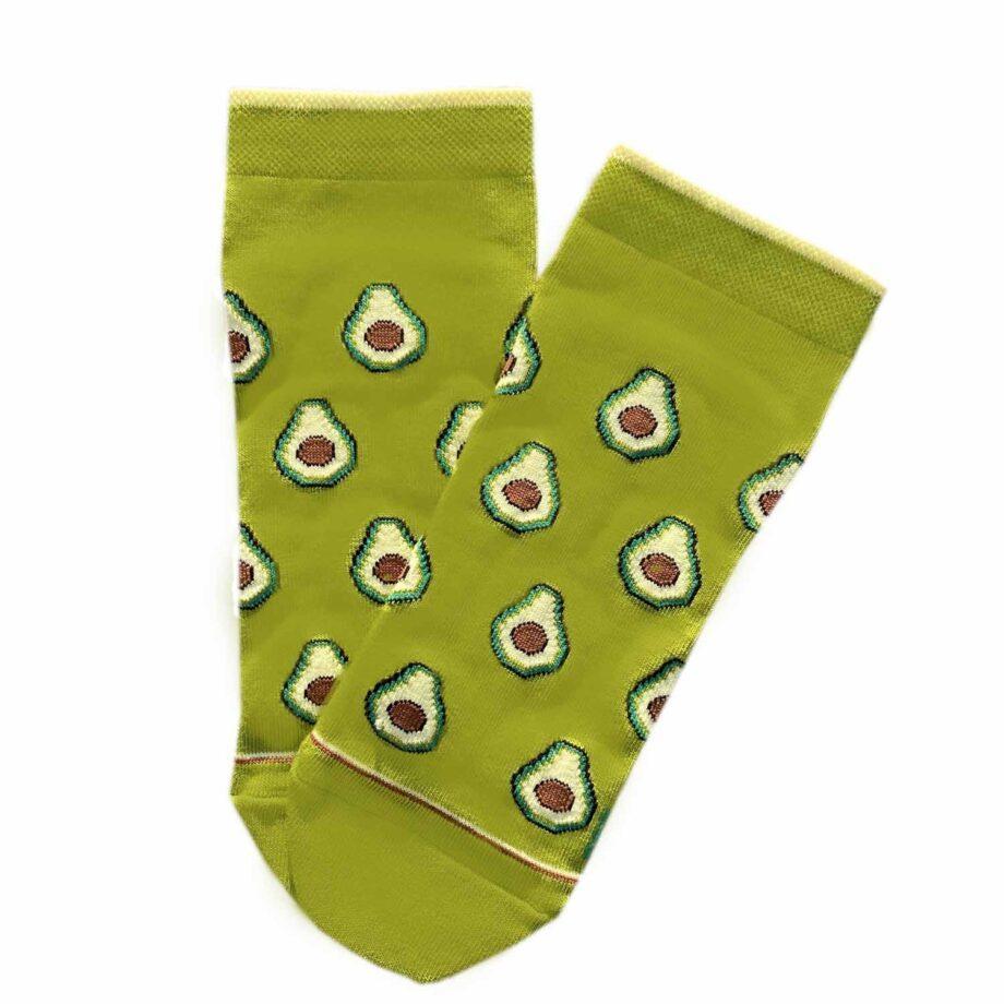 """Короткі шкарпетки з високоякісної бавовни з оригінальним принтом """"Авокадо"""""""